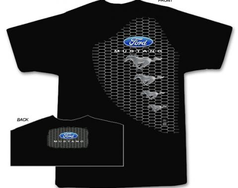 Ford Mustang Grille T-Shirt, Black