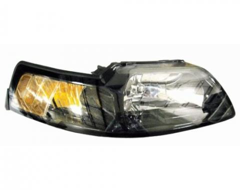 Mustang Headlight Assembly, Right, 2001-2004