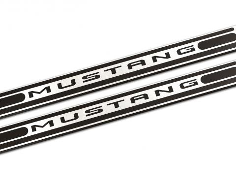 DefenderWorx Mustang Logo Door Sills For 05-14 Mustang Two Tone 900713