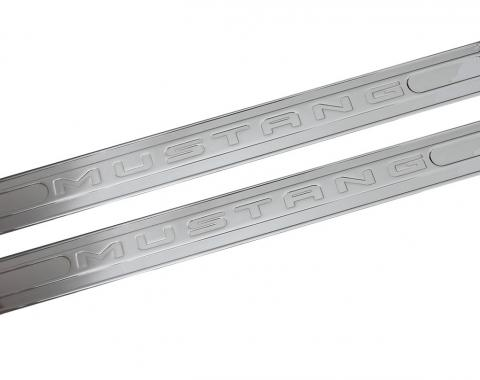 DefenderWorx Mustang Logo Door Sills For 05-14 Mustang Chrome 900712