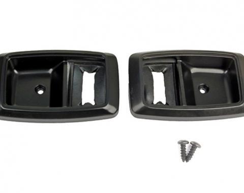 Daniel Carpenter 1979-1993 Mustang Black Inside Interior Door Handle Trim Bezels Ford Tooling E9ZZ-6622634