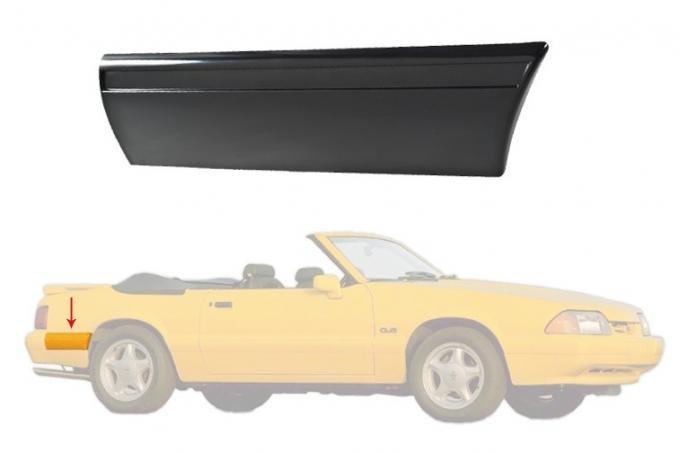 Daniel Carpenter 1987-1993 Ford Mustang LX Rear of Quarter Body Bumper Molding Moulding - RH E7ZZ-6129038