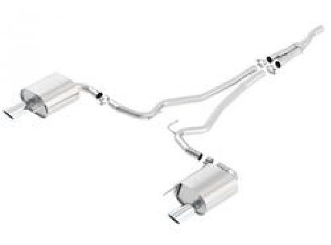 Mustang EcoBoost Cat-Back™ Exhaust ATAK®, 2015-2018