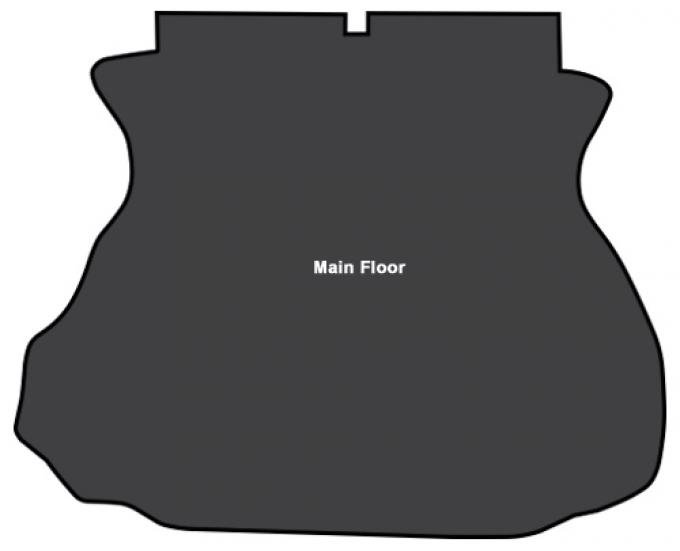 ACC  Ford Mustang Coupe Trunk Sound Deadener 1pc Mastic with Pad, 1994-2004