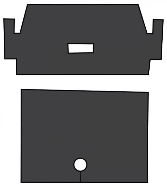 ACC  Ford Mustang Trunk area Sound Deadener 2pc EVA, 1965-1973