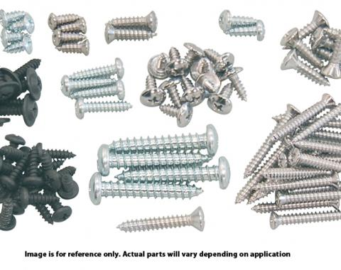 Mustang Interior Screw Kit, Hatchback, 91 Pieces, 1979-1986