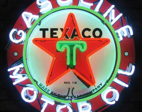 Neonetics Standard Size Neon Signs, Texaco Gasoline Neon Sign