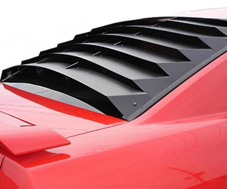 Mustang Rear Window Louver, Aluminum, 2005-2014