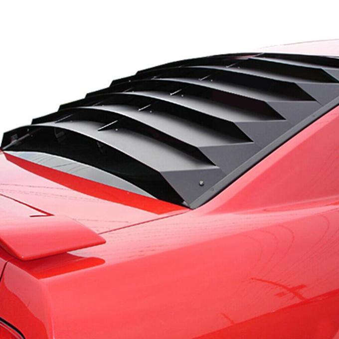 Mustang Rear Window Louver, Aluminum, 2005-2014