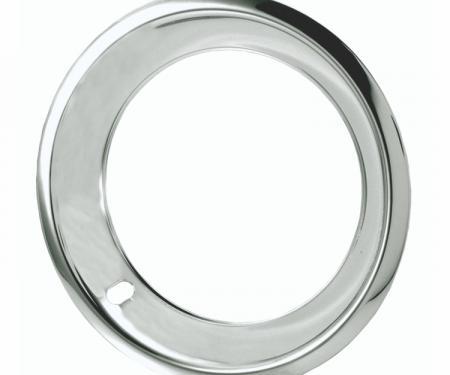 "Redline Restomotive® 15"" Deep Dish Chrome Plated Stainless Steel Trim Ring, Set of Four"