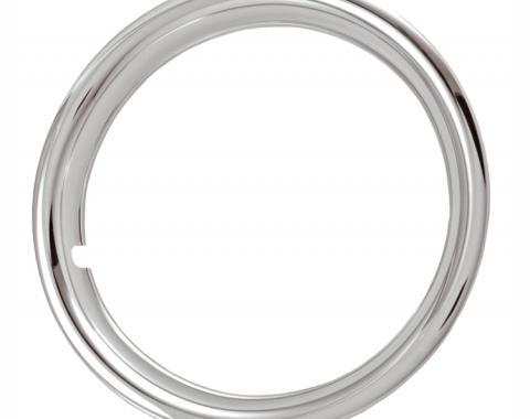 "Redline Restomotive® 17"" Chrome Plated Stainless Steel Trim Ring, Set of Four"