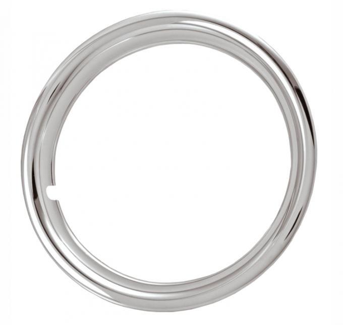 "Redline Restomotive® 16"" Chrome Plated Stainless Steel Trim Ring, Set of Four"
