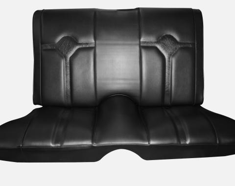 Distinctive Industries 72-73 Cougar Decor/Deluxe Hardtop Rear Bench Seat Upholstery with Simulated Comfortweave Inserts 107302