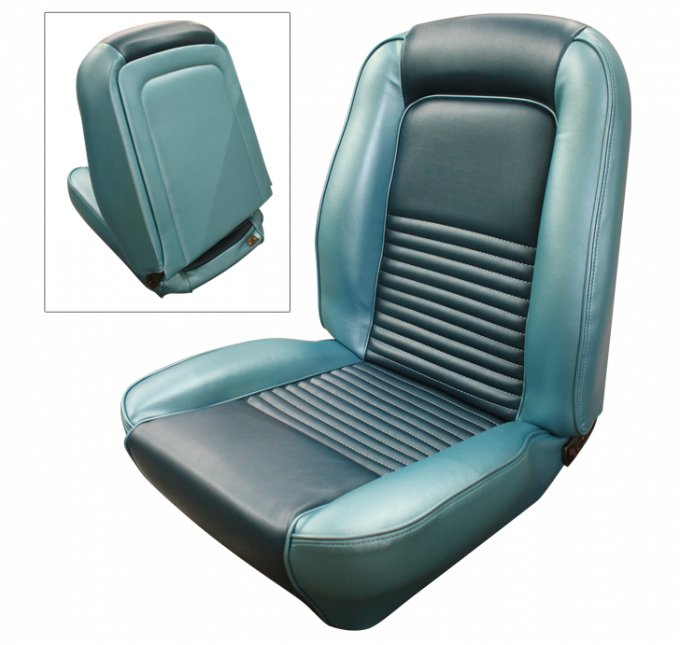 Distinctive Industries 1967 Mustang Standard Touring Front Buckets Seat Upholstery 068247