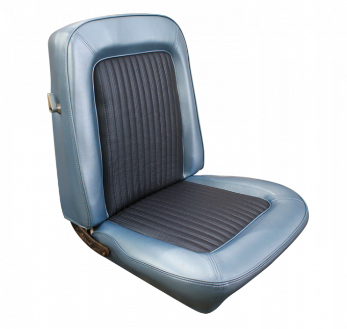 Distinctive Industries 1968 Mustang Deluxe/Shelby Front Bucket Seat Upholstery with Simulated Comfortweave 068363