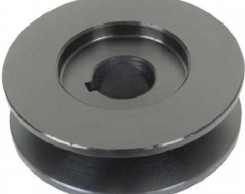 PowerGen Replacement Pulley, For 1/2 Belt, Powder-Coated Black Finish, 1955-57
