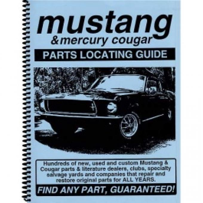 Parts Locating Guide, Mustang & Cougar