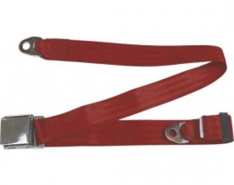 "Seatbelt Solutions 1949-1979 Ford | Mercury Lap Belt, 74"" with Chrome Lift Latch 1800742007 