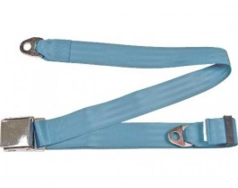 "Seatbelt Solutions 1949-1979 Ford | Mercury, Lap Belt, 74"" with Chrome Lift Latch 1800744005 
