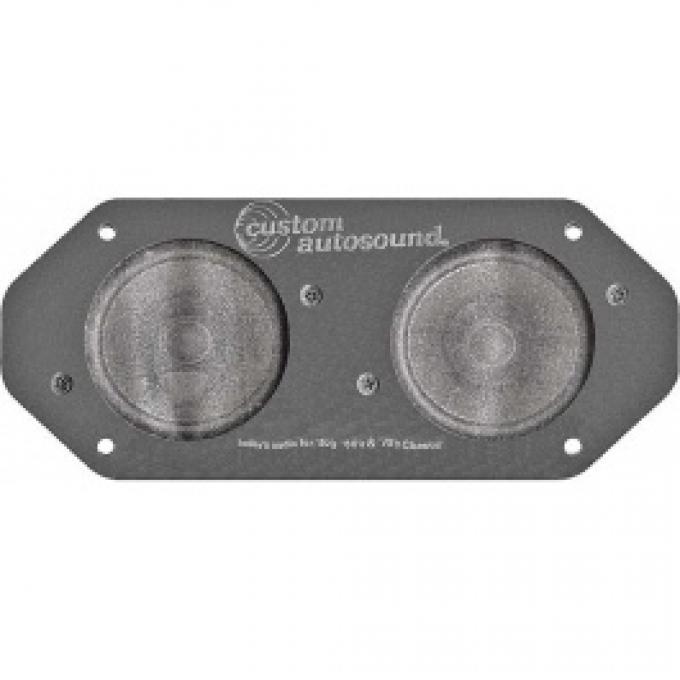 Ford Thunderbird Dual Front Radio Speaker Assembly, Mounts In Dash, 1964-66