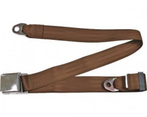 "Seatbelt Solutions 1949-1979 Ford | Mercury, Lap Belt, 74"" with Chrome Lift Latch 1800743004 