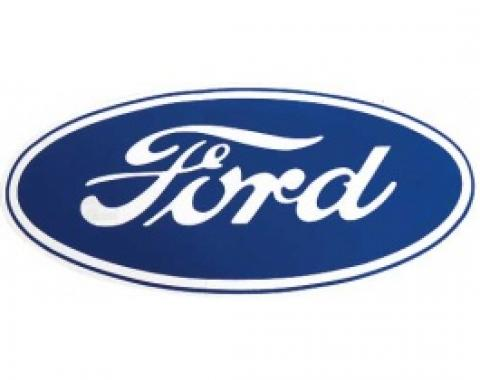 Decal, Ford Oval, 17 Long, Clear Background