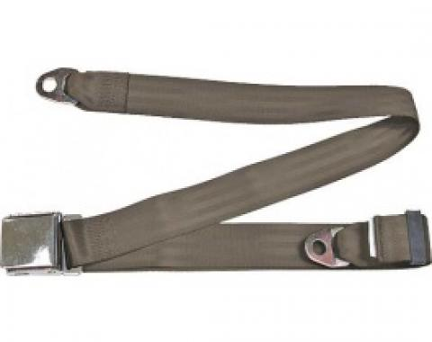 "Seatbelt Solutions 1949-1979 Ford | Mercury Lap Belt, 74"" with Chrome Lift Latch 1800743008 