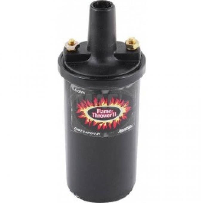 Flame Thrower Coil, For 6-Volt Systems, .6 OHMS Resistance, Black, 1955