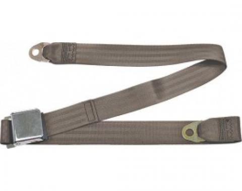 "Seatbelt Solutions 1949-1979 Ford | Mercury Lap Belt, 60"" with Chrome Lift Latch 1800603008 | Medium Beige"