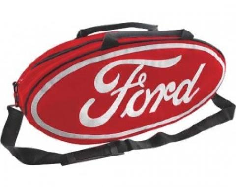 Gobox, Canvas, Red Nylon/Polyester With A White Ford Logo