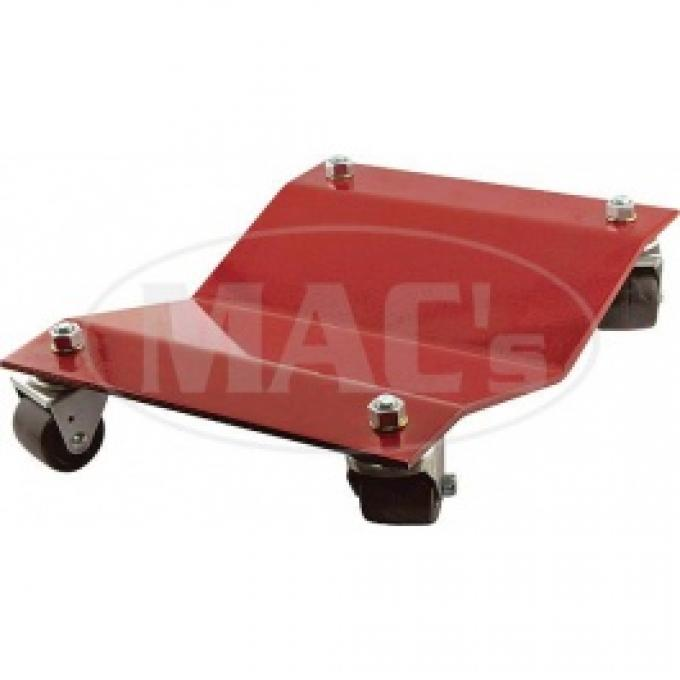 Wheel Dolly Set, 4 Piece Set, 12 Wide X 16 Long, Red Powder Coated Finish