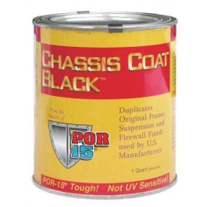 POR-Brand Paint, Chassis Coat Black, 1 Quart