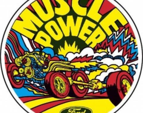 Decal, Muscle Power, Inside Window, 5