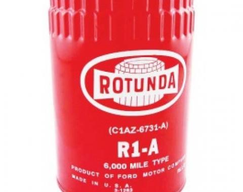 Ford Thunderbird Oil Filter, ROTUNDA R1-A, Concours Quality, All Engines, 1961 Through May 1965