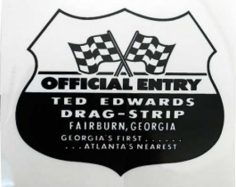 Decal, Ted Edwards Drag Strip