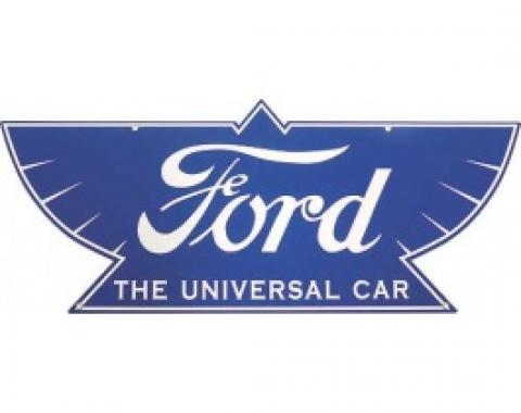 Ford THE UNIVERSAL CAR Sign, Single Sided, 34 x 14