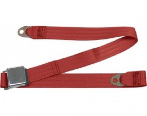"Seatbelt Solutions 1949-1979 Ford | Mercury, Lap Belt, 60"" with Chrome Lift Latch 1800602006 