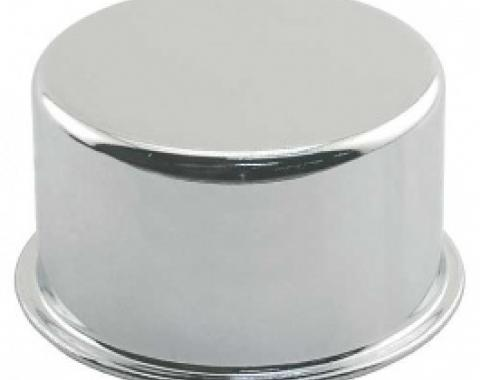 Ford Thunderbird Oil Filler Breather Cap, Chrome, Push On Type, No Logo, 1958-66
