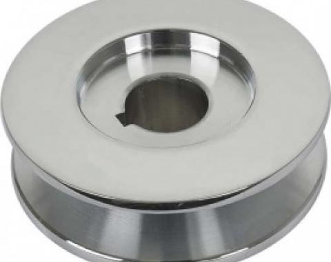 PowerGen Replacement Pulley, For 1/2 Belt, Chrome, 1955-57