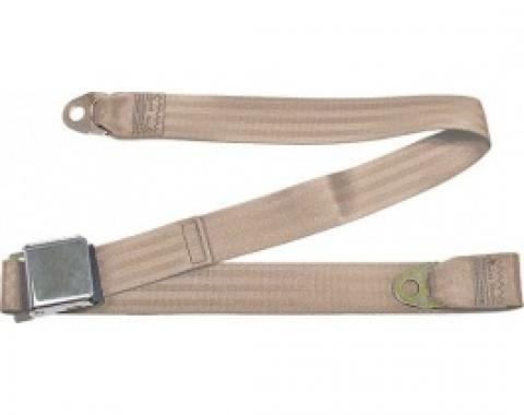 "Seatbelt Solutions 1949-1979 Ford | Mercury, Lap Belt, 60"" with Chrome Lift Latch 1800603009 