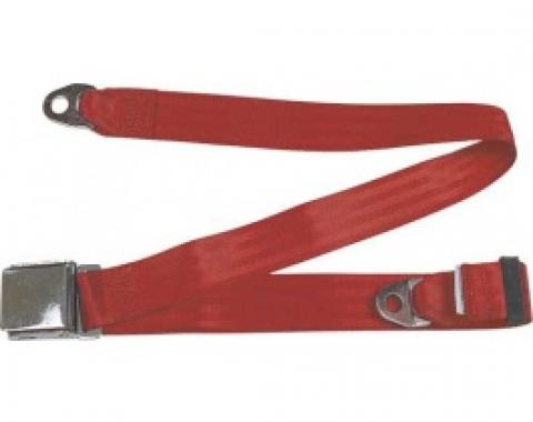"Seatbelt Solutions 1949-1979 Ford | Mercury, Lap Belt, 74"" with Chrome Lift Latch 1800602006 
