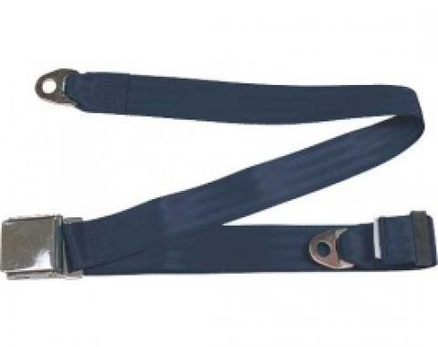 "Seatbelt Solutions 1949-1979 Ford | Mercury Lap Belt, 74"" with Chrome Lift Latch 1800744004 