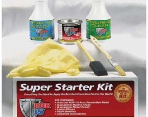 POR-15 Super Starter Kit, Gloss Black