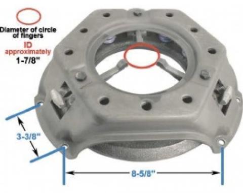 Ford Clutch Pressure Plate, 11 Diameter, 6 & 8 Cylinder