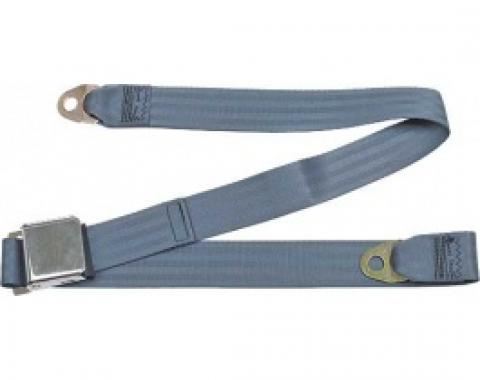 "Seatbelt Solutions Ford/Mercury, Rear Universal Lap Belt, 60"" with Chrome Lift Latch 1800604002 
