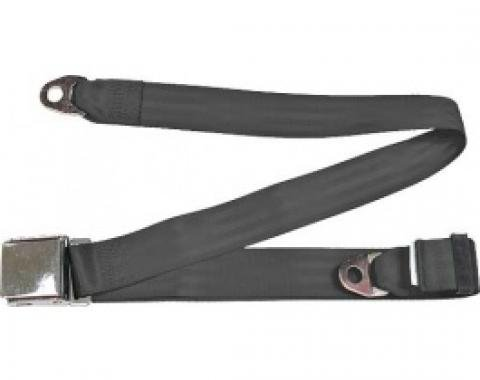 "Seatbelt Solutions 1949-1979 Ford | Mercury, Lap Belt, 74"" with Chrome Lift Latch 1800746009 