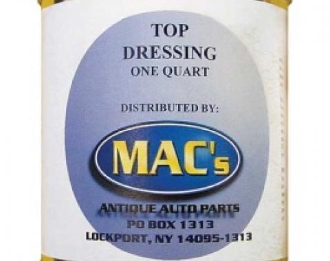 Vinyl Top Dressing, Black, 1 Quart Can