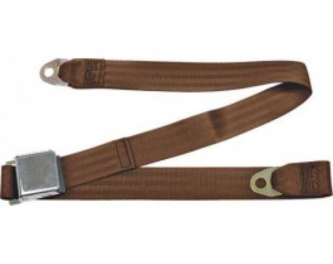 "Seatbelt Solutions 1949-1979 Ford | Mercury, Lap Belt, 60"" with Chrome Lift Latch 1800603004 | Copper"