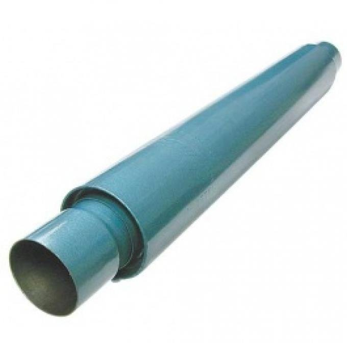 Smithy's Muffler, 22 Case, Fiberglass Packing, 3-1/2 Case Diameter, 2-1/2 Inlet and Outlet