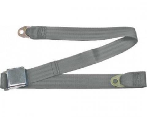 "Seatbelt Solutions 1949-1979 Ford | Mercury Lap Belt, 60"" with Chrome Lift Latch 1800606005 | Gray"